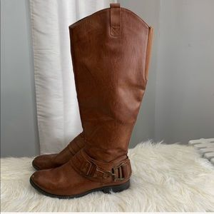Sonoma 🔸 brown leather boots size 7.5M